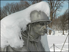 Korean War memorial on 7 February 2010