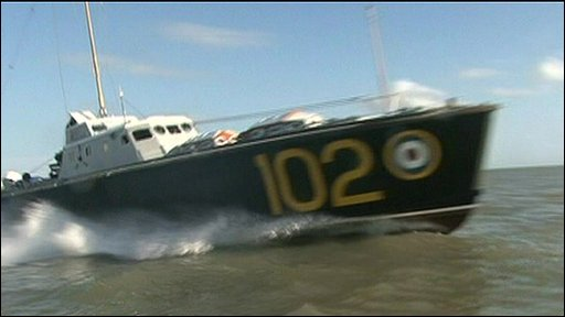 RAF gunboat 102, restored and on the waves