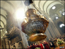 Giant censer in cathedral of Santiago di Compostela