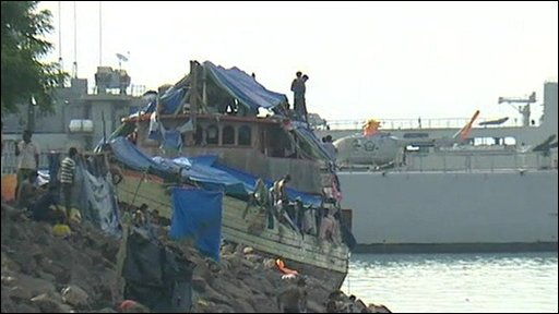 The boat carrying the Sri Lanka refugees