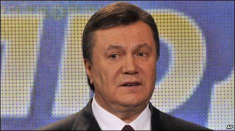 Ukrainian president-elect Viktor Yanukovych