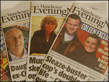 Copies of the Manchester Evening News