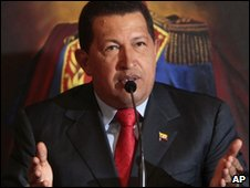Hugo Chavez in a file photo from December 2009