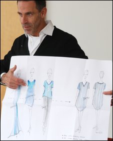 Ben de Lisi with his designs