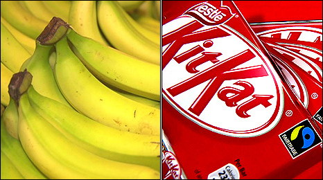 Bananas and KitKats