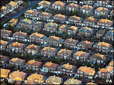 Aerial photo of houses (Image: PA)