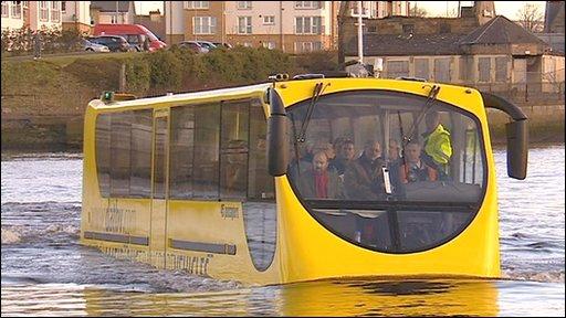 Amphibious coach