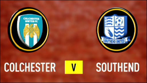 Colchester 2-0 Southend (UK only)