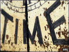 Face of an old clock