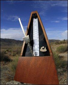Metronome in desert