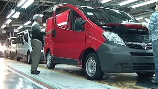 Van production line