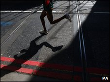 Runner at the London Marathon