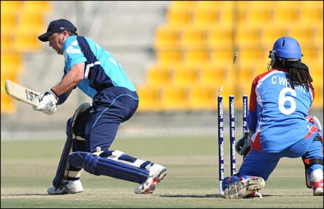 Another Scotland wicket falls against USA