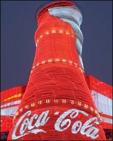 Coca Cola advertisment in Shanghai, China