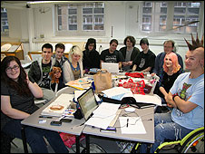 Animation students at the Norwich University College of the Arts