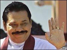 President Mahinda Rajapaksa, 4 February 2010