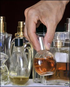 Bottles of perfume, AP