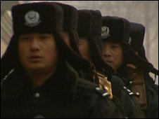 Chinese police in Urumqi