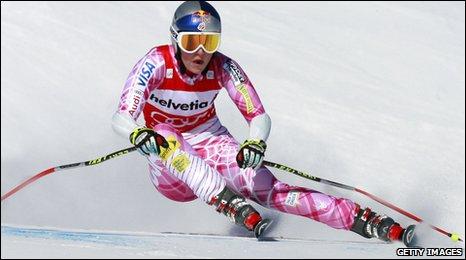 Lindsey Vonn in action
