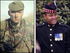 Cpl John Moore and Pte Sean McDonald
