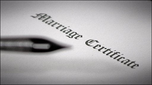 Marriage certificate graphic