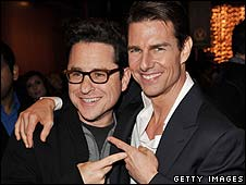 Tom Cruise (right) with JJ Abrams