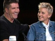 Simon Cowell and Ellen DeGeneres