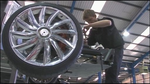 Car being produced