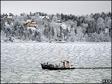 Swedish ferry boat off Stockholm, 15 Jan 10