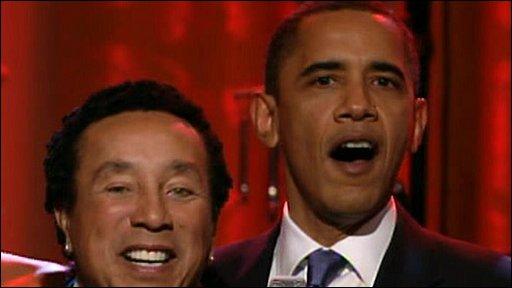 Smokey Robinson and Obama