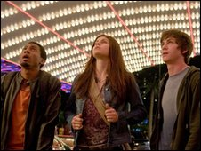 Grover (Brandon T Jackson), Annabeth (Alexandra Daddario) and Percy (Logan Lerman)