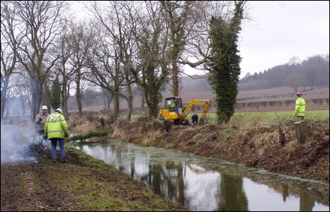 Working on the canal