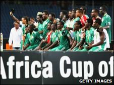 Nigeria celebrate winning third place at the 2010 Africa Cup of Nations