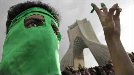 Iranian protestor