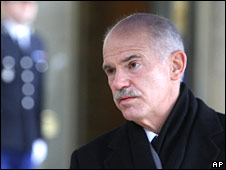 Greek PM George Papandreou, Feb 10 2010