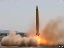 An Iranian Shahab-3 rocket