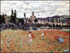 Reproduction of Poppies near Vetheuil by Claude Monet (1879)