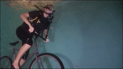 Cycling underwater