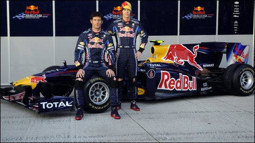 Mark Webber and Sebastian Vettel with the RB6