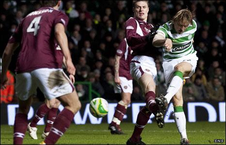 Glenn Lovvens scores Celtic's opener
