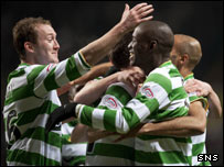 Aiden McGeady and Marc-Antoine Fortune