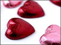 Chocolate love hearts
