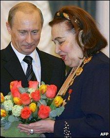 Irina Arkhipova with Russian president Vladimir Putin