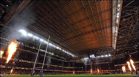 The Millennium Stadium in Cardiff