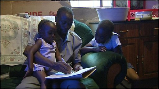 Zimbabwe teacher Julius and his children