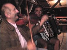 Roma people playing in Serbia