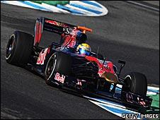 Sebastien Buemi in the Toro Rosso