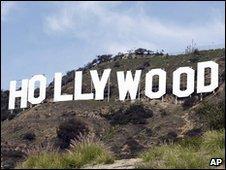 Hollywood sign, near Los Angeles, January 2010