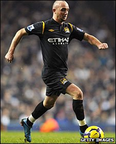 Stephen Ireland in action for Manchester City