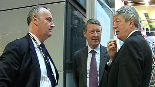 Home Office officials with Alan Johnson